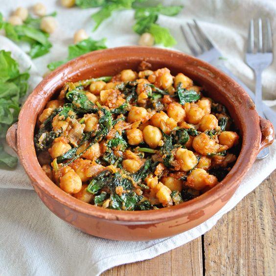 Spanish Spinach and Chickpeas - Espinacas con Garbanzos