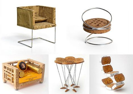 A Design Within Reach contest invited readers to create a miniature chair using nothing but the foil, label, cage and cork from no more than two champagne bottles. What resulted was an incredible collection of tiny furniture, some mimicking iconic designs while others were entirely original.