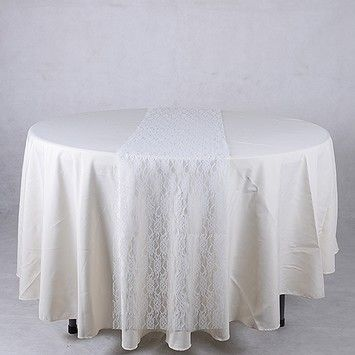 White Lace Table Runner