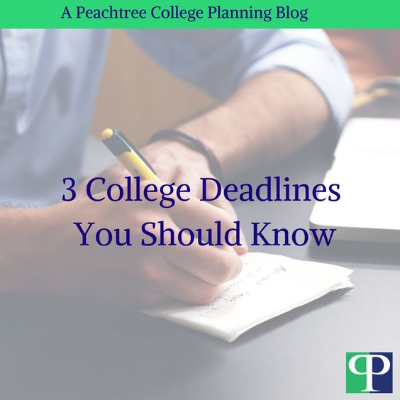 A huge mistake people make in the college application process is missing deadlines.
