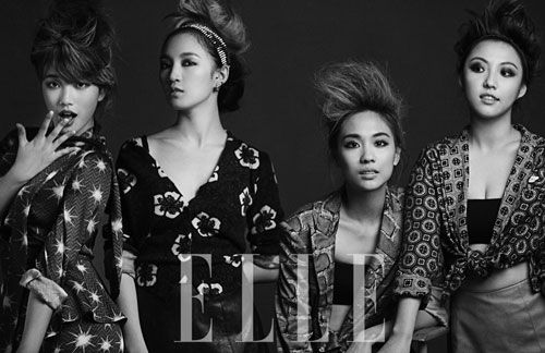miss A look hip and chic for 'Elle' magazine