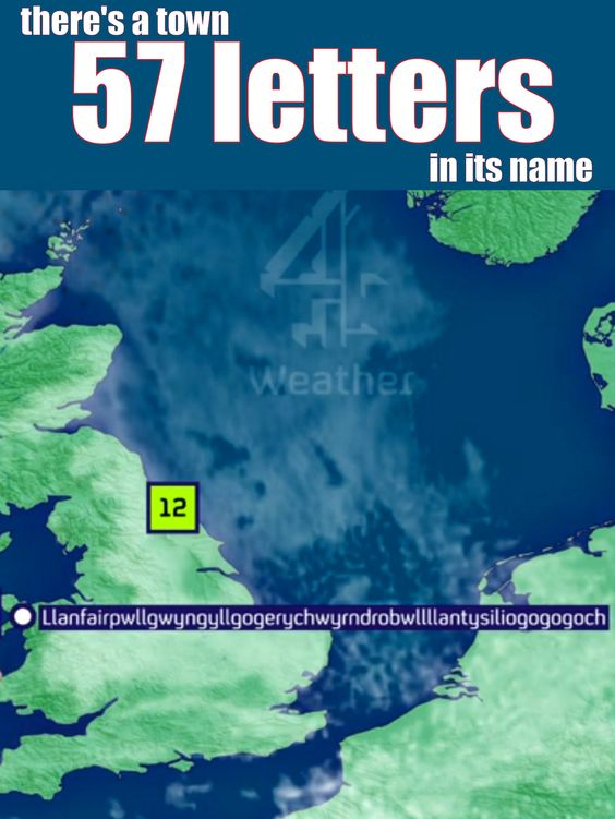 Have you heard of this town with 57 letters in its name! Take a listen to the weather man as he says it with little to no effort!
