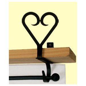 Heart Curtain Shelf Brackets