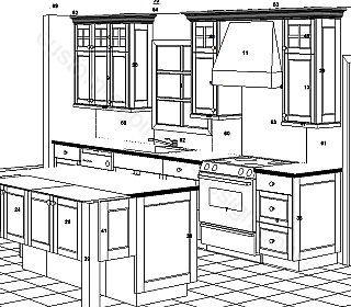 Kitchen Cabinet Design Drawing | Cabinet Design, Kitchen Cabinet Design, Computer Table Design