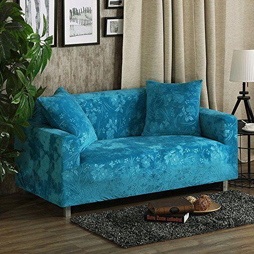 Elastic Plush Sofa Slipcover Full Cover Thicken Universal Jacquard