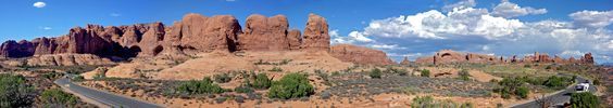 Panoramic Photograph of the Windows Section, Arches National Park, Utah