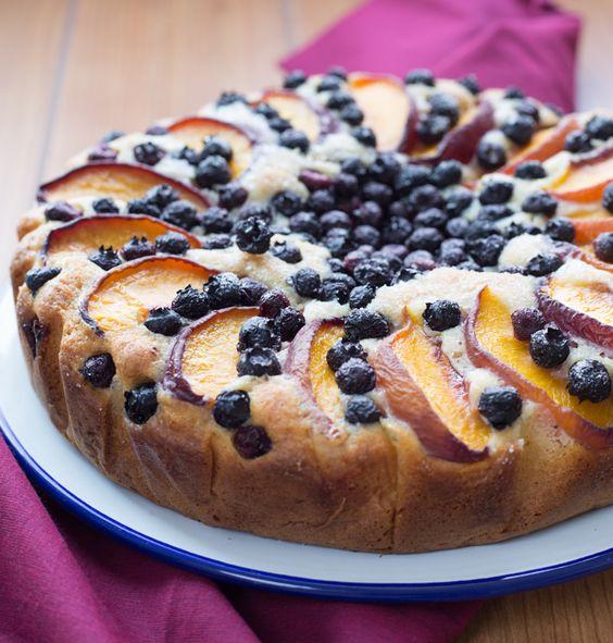 Peach and Blueberry Yogurt Cake – Stasty
