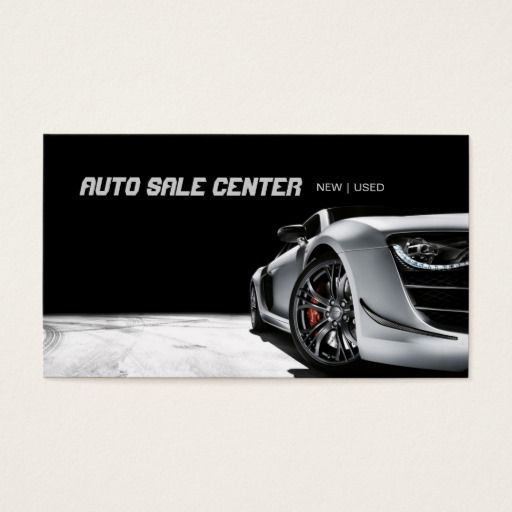 Modern Auto Sale Car Dealership Business Card Zazzle Com With