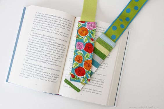 My parents were visiting several months ago and my dad had a book with him that had a wide elastic band around the outside cover.  I asked him what it was and he showed me that it was this great little bookmark that held its pages closed and secure…..no matter what.  So no more throwing …