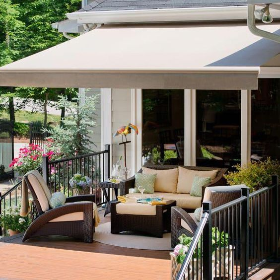 The perfect addition to any patio! The sun will never be in your eyes with this PS2000 Retractable Awning from Family Leisure!