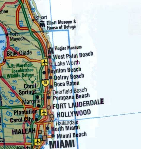 Map Of South Florida Cities Map Of South Florida Road Map - Florida map of cities