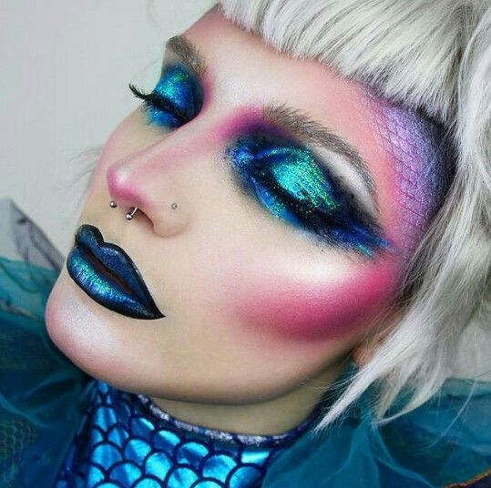 Creative avant garde makeup creation
