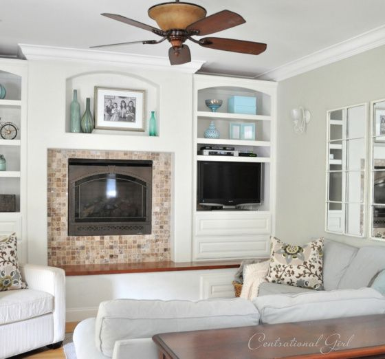 Wall color is Benjamin Moore Camouflage, a pale gray green. Kate says it looks different in morning and evening light, a brighter green in direct sunlight and more gray in evening or indirect sunlight. Link to all of Kate's home colors, which are all gorgeous neutrals.