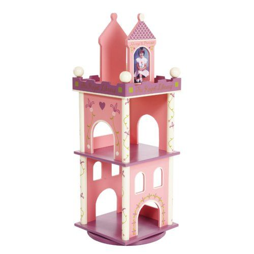 Levels Of Discovery Princess Revolving Bookcase Pink/Purple for girls