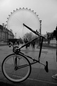 The London Eye wheel.