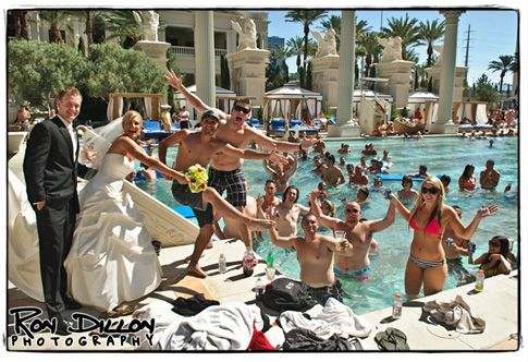 Love this shot from a Caesars Palace Wedding!