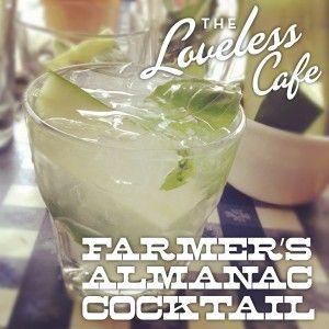 Farmer's Almanac Cocktail - muddled lime, cucumber, basil and moonshine!