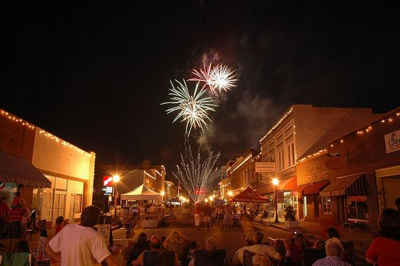Town of Selma - 4th of July celebration begins with special events and music and visitors enjoy the fireworks over the downtown cityscape. by dbtaylor1959, via Flickr