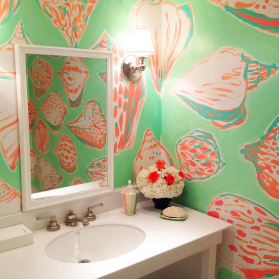 Parks winter park florida and winter park on pinterest for Lilly pulitzer bathroom