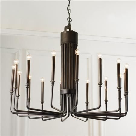 Bent Rod Chandelier 16 Light Guys Dining Rooms And Shades