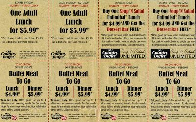 Old country buffet coupons discounts