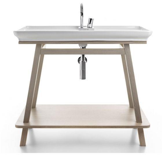 Vasque sur meuble en bois à poser TRAPEZIO naked salle de bain