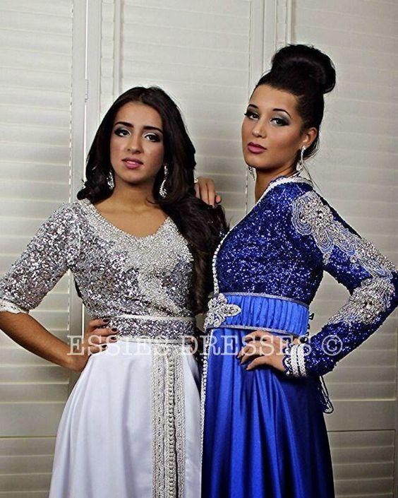 deux magnifiques caftans marocain moderne 2015 tendances de cette ann e en tissu tr s. Black Bedroom Furniture Sets. Home Design Ideas