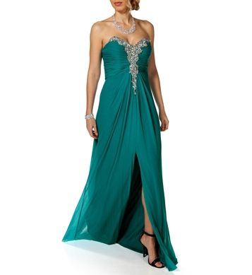 Ariel- Teal Long Prom Dress