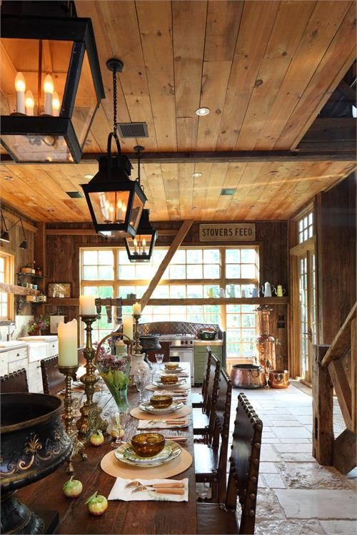 Cozy Country/Rustic Dining Room By Irwin Weiner On