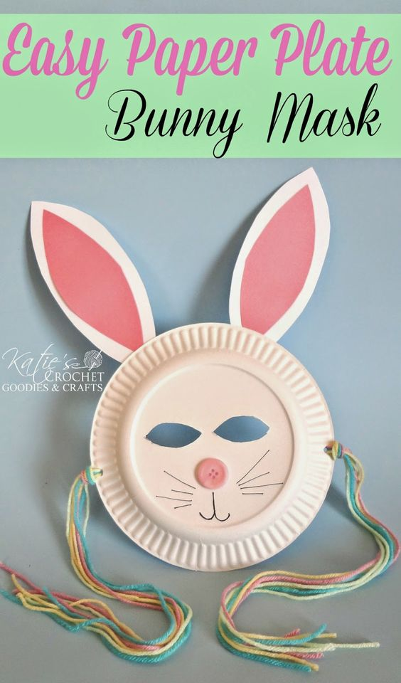 Easy Paper Plate Bunny Craft for kids #Easter craft for kids #Bunny | http://www.katiescrochetgoodies.com/2014/04/easy-paper-plate-bunny-craft.html: