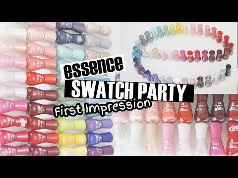 ESSENCE NEUHEITEN! 46 FARBEN - essence the gel nail polish SWATCH PARTY - YouTube