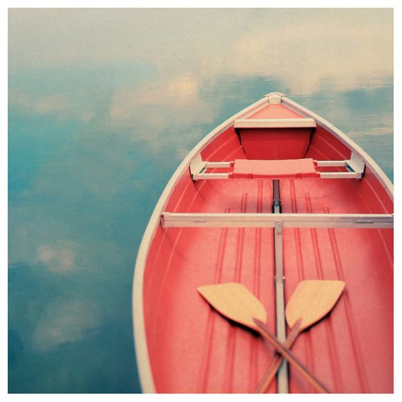 One canoe and me and you.