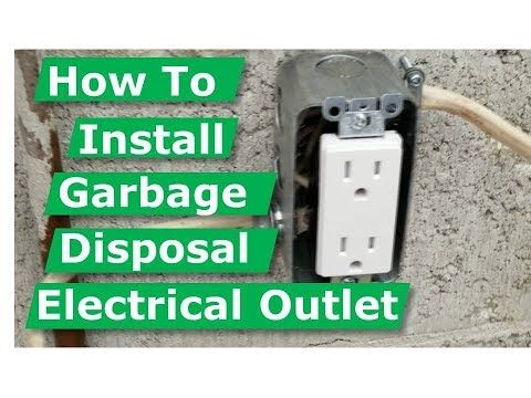 How To Install Garbage Disposal Electrical Outlet Box Diy Youtube In 2020 Garbage Disposal Electrical Outlets Installing Electrical Outlet