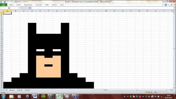 One day I'll design a logo in Excel.