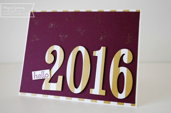 Stampin Up, Neujahrskarte