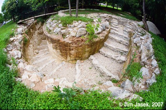The entrance to Robber Baron Cave near Alamo Heights