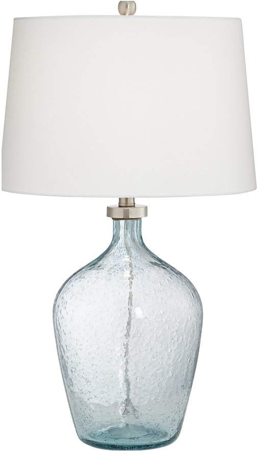 Pacific Coast Clear Blue Bubble Glass Table Lamp Reviews Home Macy S In 2021 Blue Glass Lamp Glass Table Lamp Glass Lamp