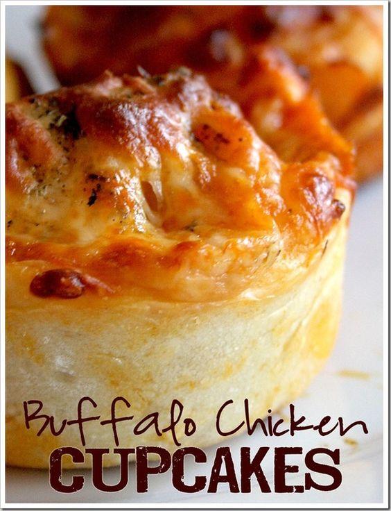 Buffalo Chicken Cupcakes #popular