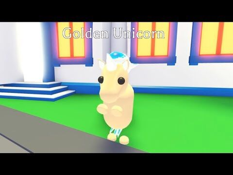 Golden Unicorn Adopt Me Roblox In 2020 Roblox Novelty My Roblox