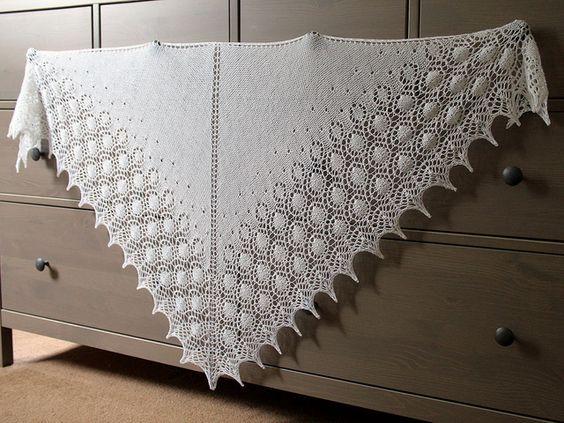 Dew Drops Shawl pattern by Bex Hopkins Wedding shawl ...