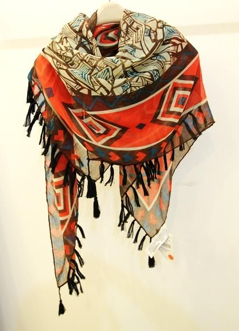 Ethnic Style Rhombus Pattern Women's Tassels Scarf (AS THE PICTURE) | Sammydress.com