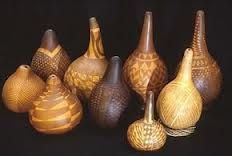 african decorated gourds - Google Search