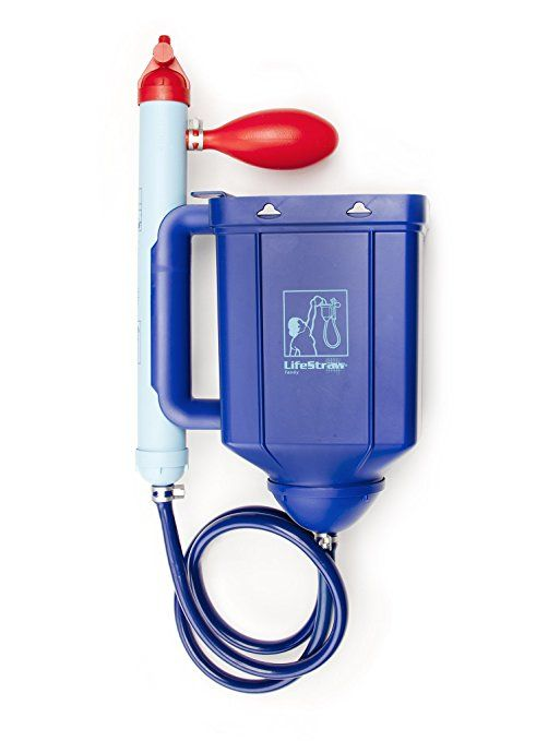 LifeStraw/® Family 1.0 Portable Gravity Powered Water Purifier for Emergency Preparedness and Camping