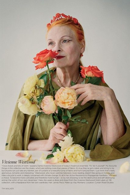 A portrait of Vivienne Westwood featured in the October 2009 issue.  SEE THE VIVIENNE WESTWOOD SHOW ARCHIVE  Photo By Tim Walker/Vogue