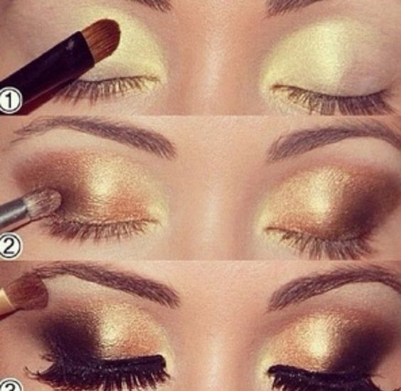 Gold look