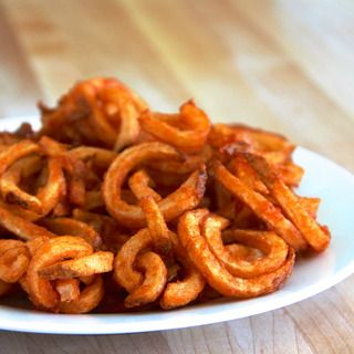 curly fries (use method but then bake?)