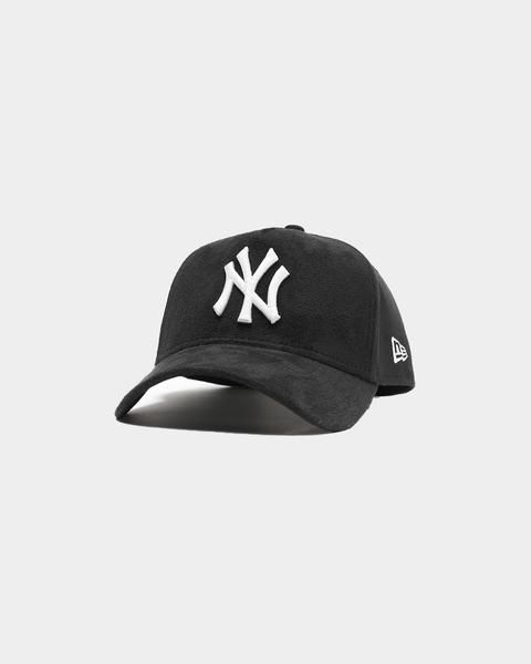New Era New York Yankees Suede 9forty A Frame Snapback Black White New Era Suede New York Yankees