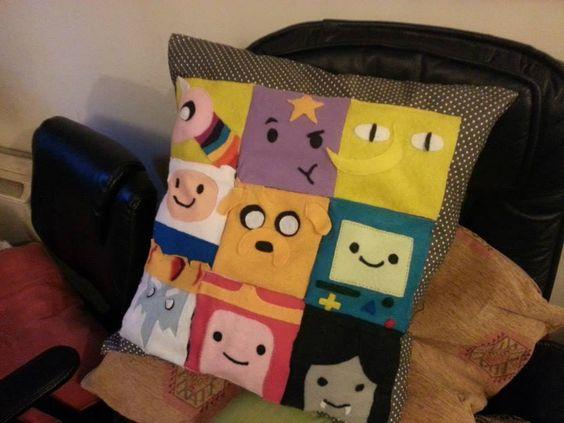 Felt adventure time cushion made for a friend!