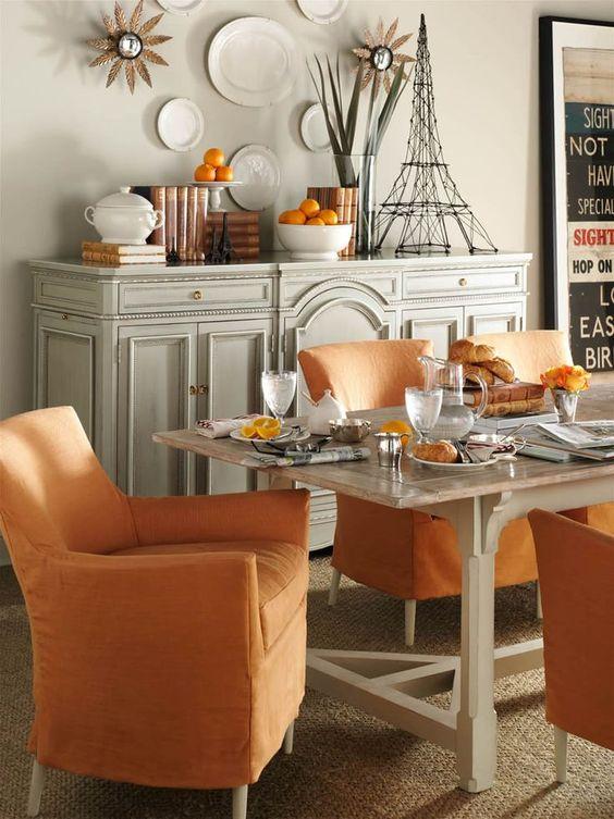 Pinterest the world s catalog of ideas for Orange dining room ideas