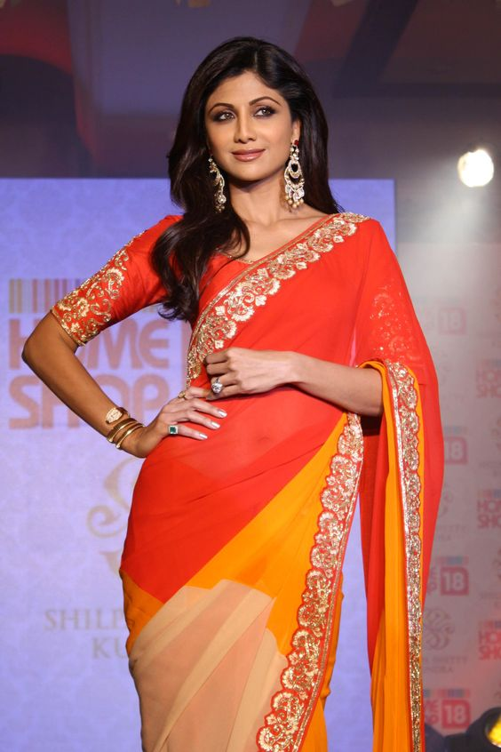 Shilpa Shetty @ An event to showcase saree designed by her